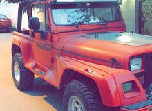 Red Jeep Wrangler 1992 for sale