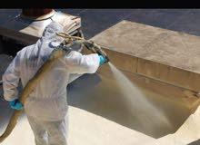 اعمال عزل حراري و مائي  للاسطح والجدران
