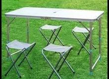 طاولة للحدائق و الرحلات مع 4 كراسي