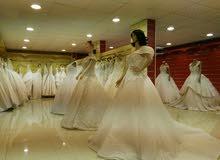 بيع وتأجير أحدث فساتين زفاف الاوروبيه والتركية بولاية نزوي