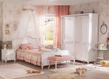 غرفة نوم بنات رومانتك# المميزه من شركة تشيلك# التركية