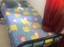 سرير مفرد + دولاب +جهاز رياضي لتقويه الظهر والبطن للبيع
