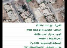 أر ض مميزه على شارعين وبسعر منا سب أبو علندا  اسم الحوض المرقب وأم قباره