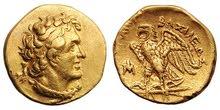 عملة بطليموس الأول ذهبية
