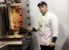 معلم شاورما ومشاوي خبر طويله وكبيره بالمطاعم للتواصل واتس00201009803732 او وتس 0548751224