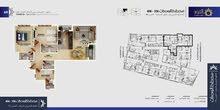 شقة مميزة للبيع غرفتين نوم بمساحة 117.33متر في مسقط