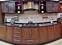 مطبخ المنيوم خشابي 3×4ب 550دينار عروض حقيقيه مع امكانيه التقسيط من مطابخ روفان