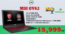 لاب توب الأفضل للجرافيكس أو الجيمينج Laptop MSI GV62