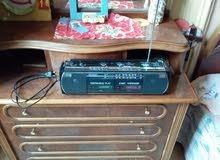 جهاز تسجيل باناسونيك  ببابين و راديو 4 موجات مونو و ستريو