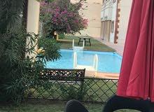 للايجار دور ارضى فخم مع حديقة وحمام سباحة سلوى 4 غرف اجانب ومقيمين