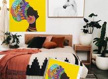 لوحات كانفاس وطباعة صور على المساند (جداعات) والستائر