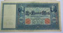 عملة ورقية المانية  قديمة من الحرب العالمية الاولي 1910