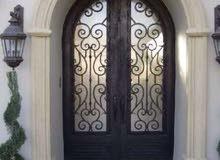 الورشة لتصنيع الأبواب الحديدوجميع اعمال الحدادة