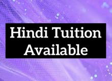 Hindi tuition available