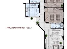 شقة للبيع بحى النادى خلف BUE بالشروق 225م وبالتقسيط