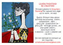 Private Lessons in Drawing and Painting For Adults only.