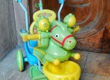 عجلة حصان للاطفال مقاس 12 - بها حاجز امان للطفل - تصلح ليه 2 سنة ال 5