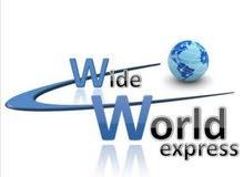 شركة World Wide express لخدمات الشحن( التوصيل) المحلي والدولي