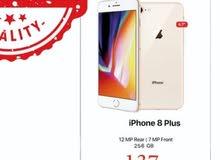 ايفون أصلي كفالة سنة iPhone 8 plus 256 GB