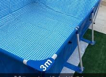 مسبح 2x3 m  متر جديد تم الاستخدام عده مرات INTEX