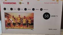 شاشة سمارت 58 بوصة للبيع حالة ممتازة SMART 4K TV 58 INCHES