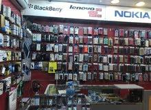 للايجار محل هواتف صيانه جميع انواع الهواتف النقاله بيع شراء صيانه