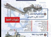 خط انتاج بطاطس نصف مقليةللبيع في مصر من الهندسية ستيل
