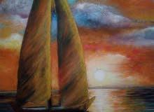 لوحات فنيه زيتي باسعار مناسبه للبيع