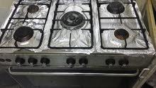 طباخ 5 شعله مع فرن +اسطوانه ومنظم 45 دينار