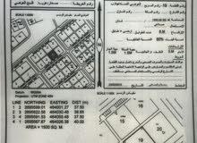 للبيع ارض صناعية فلج العوهي B مساحة 1500 متر 75 الف