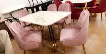 طاولات طعام  رخام ملكي 6 كرسي