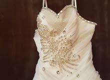 فستان زفاف للبيع او الايجار مدينة الرياض