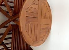 طاولة خشب بكرسييي التواصل واتس اب فقط 0551261441