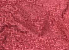 ستائر لون خمري red curtains