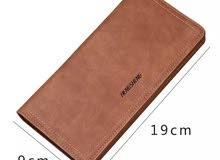 محفظه  رجالية جلد حجم طويله
