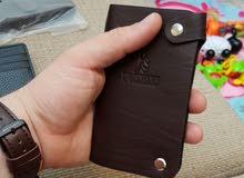 محفظة البطاقات جلد طبيعي  Card Holder Wallet