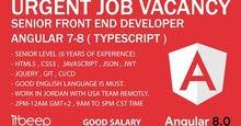we are hiring urgent ... Senior Front End Developer