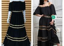 فستان شيفون مقلم