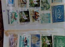 دفتر طوابع عربي اجنبي قديم للبيع