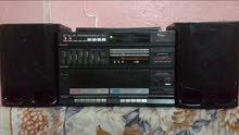 جهاز ستيريو شارب ياباني و مضخم صوت اواكس وراديو و كاسيت مزدوج و اسطوانة