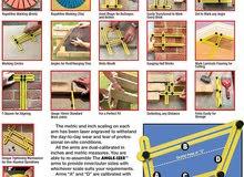 Ultimate Tile & Flooring Template Tool Multi-Angle Ruler KUNSTSTOFF