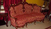 sofa set- egyption dumyati - big sofa and four single chairs plus table   exelent condtion