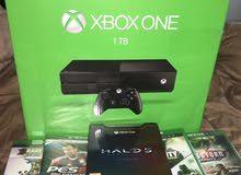 New XBOX ONE with 6 games, 1 month old, Negotiable Price