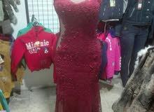 فستان سهره مستعمل للبيع او للايجار