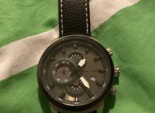 ساعة يد جلد أسود ماركة police