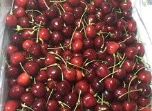 كرز اوزباكستان نوعية ممتازة الصندوق 5 كيلو صافي fresh cherry Uzbekistan per box