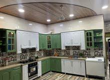 مطبخ ابواب خشب HDF ودواخل المنيوم جديد