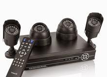 4كاميرات مراقبة + DVR بجودة 2 ميجا بكسل
