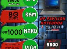 جيل سادس HP PAVILION NOTE BOOK CORE I7 رام 8 هارد 1TB بفيجا NVIDIA