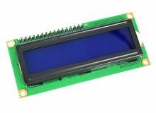 1602 LCD with I2C Interface and Blue Backlight - شاشة ال سي دي 1602 مع واجهة I2C وخلفية زرقاء